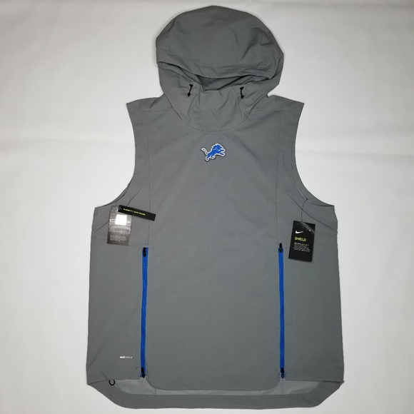 f74b4729 Detroit Lions Nike Shield Vest Light Jacket L NWT